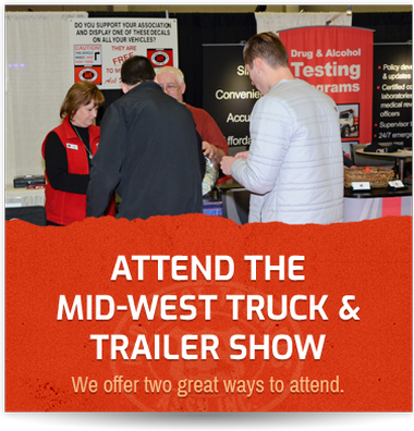 Grpahic link on how to attend the Truck Show